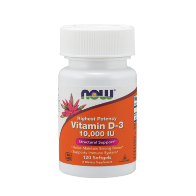Vitamin D3 10,000 IU - 120 Cápsulas Now