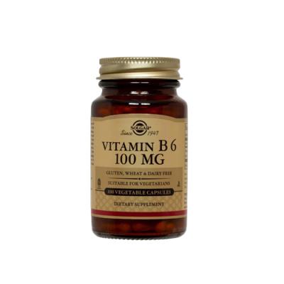 Vitamin B6 100mg - 100 Cápsulas Solgar