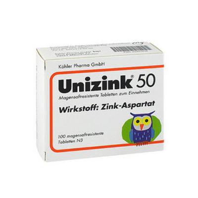 Unizink 50 Kohler - 100 Comprimidos - Biotop