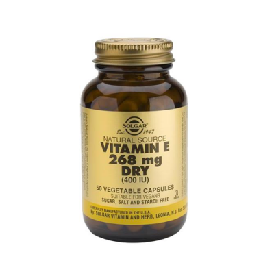 Vitamina E 268mg 400IU - Forma Não Oleosa 50 Cápsulas Solgar