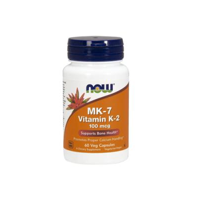 MK7 Vitamin K2 100mcg - 60 Cápsulas Now