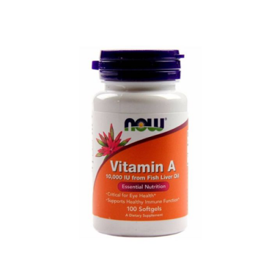 Vitamin A 10,000 IU - 100 Cápsulas Now