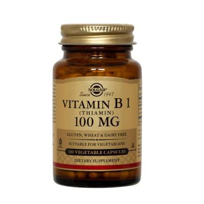 Vitamina B1 (Tiamina) 100mg - 100 Cápsulas Solgar