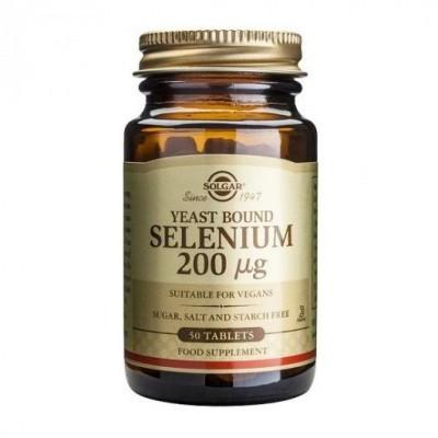 Selénio 200ug (Ligado a Leveduras) 50 Comprimidos Solgar