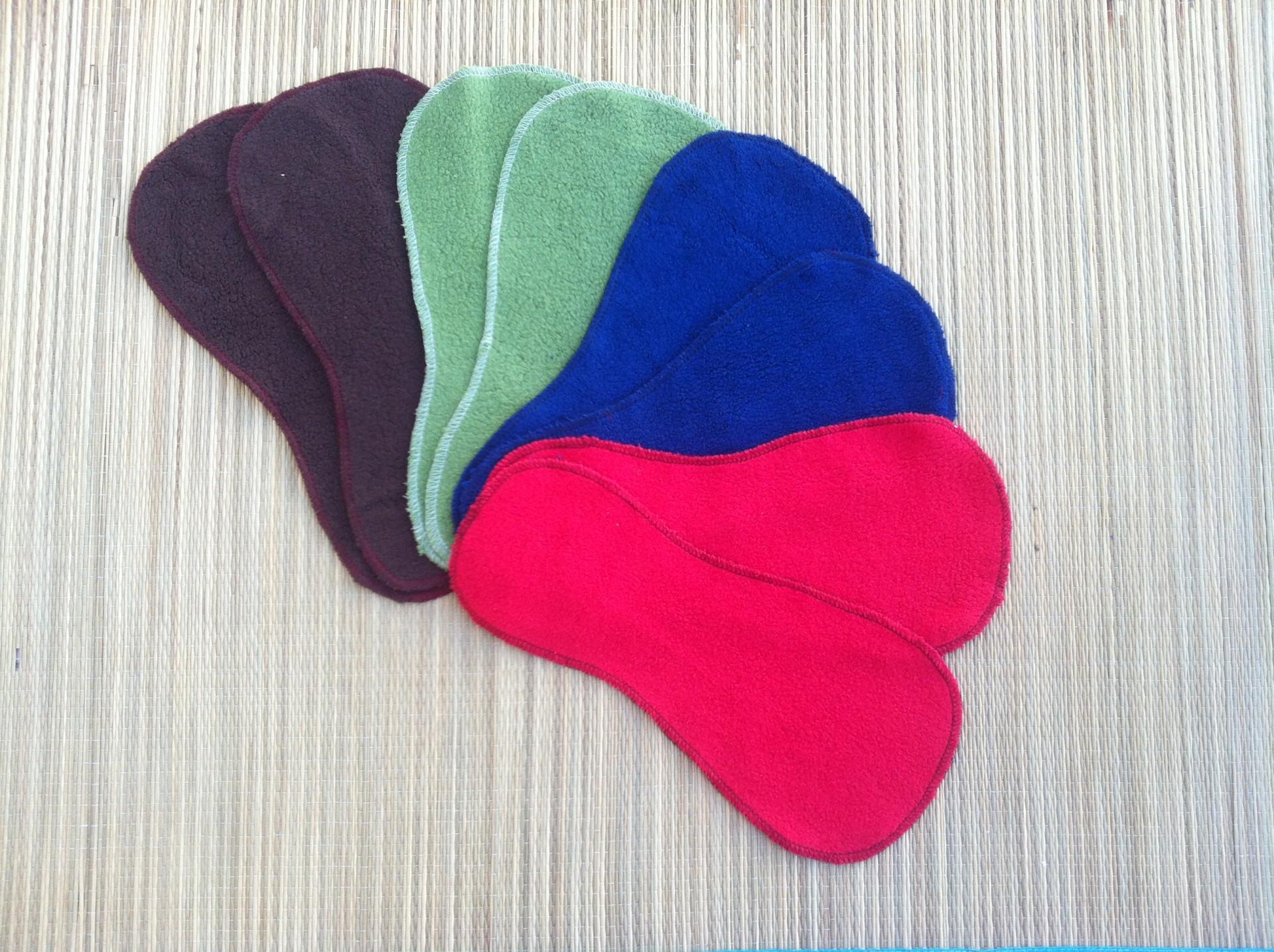 Liner para fraldas reutilizáveis de fleece de algodão stay dry /stay dry reusable liner cotton fleece