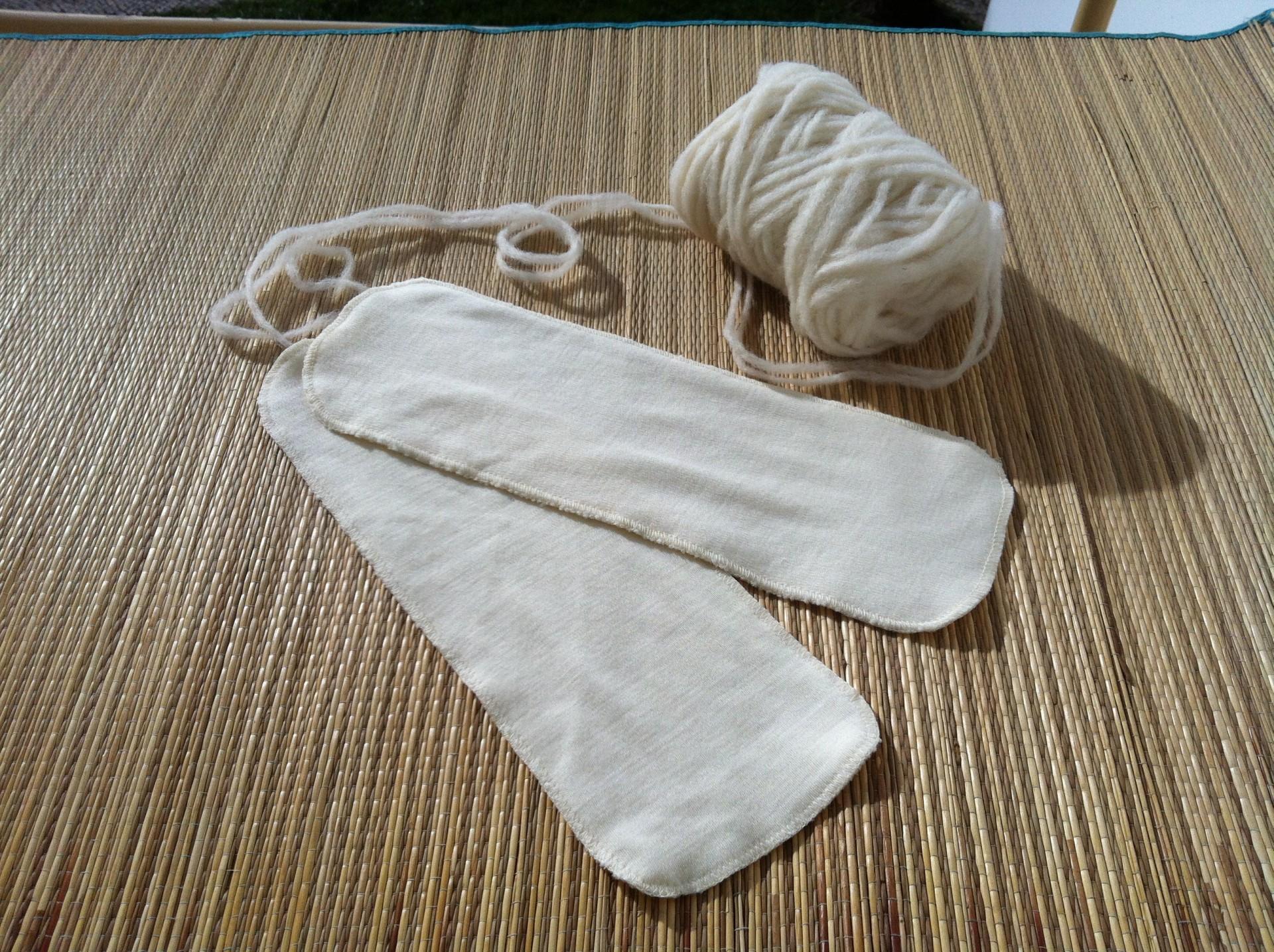 Absorvente para fraldas reutilizáveis de lã interlock superwash/Wool booster interlock superwash