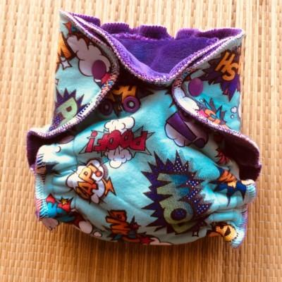 Fralda ajustada reutilizável recém nascido /newborn fitted cloth diaper