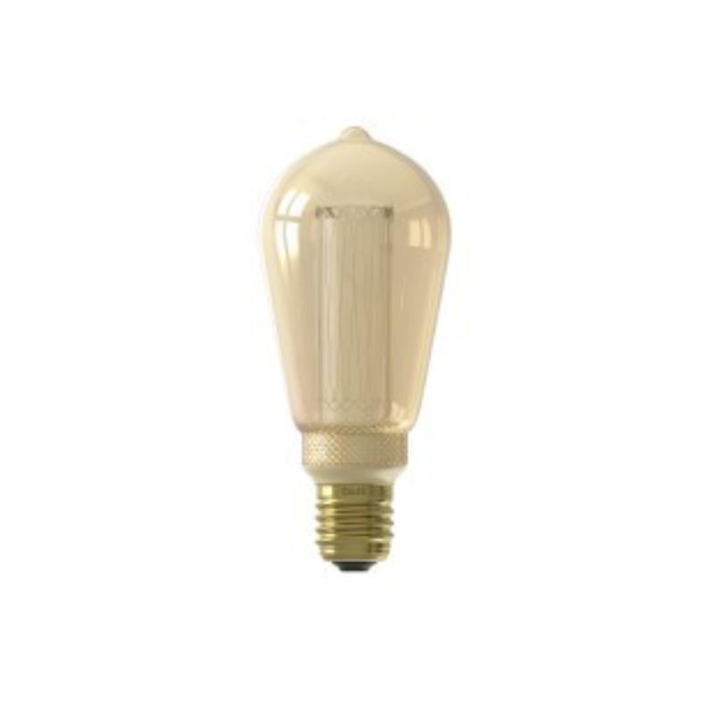 Lâmpada LED Calex regulável série Crown Gold E27 3,5w 100lm 2100K