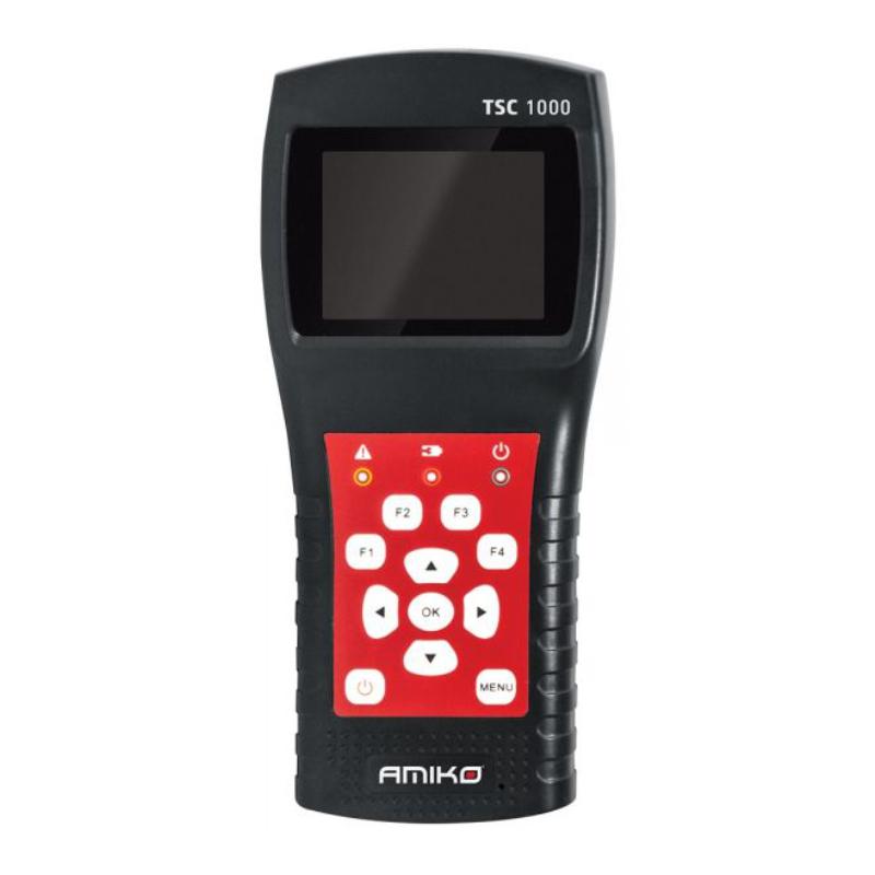 Medidor de campo Amiko TSC 1000 (TDT, Sinal Satélite e Cabo) + Fonte de alimentação + Carregador isqueiro carro  + Bolsa