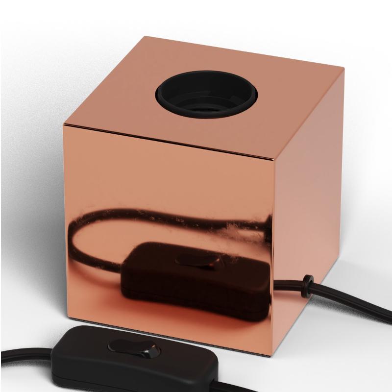 Candeeiro de mesa Calex cor cobre E-27 com extensão s/ lâmpada