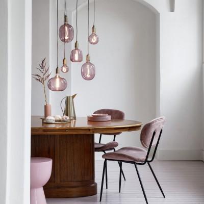 Lâmpada LED Calex Avesta quartzo rosa regulável 4w 150lm 2000K