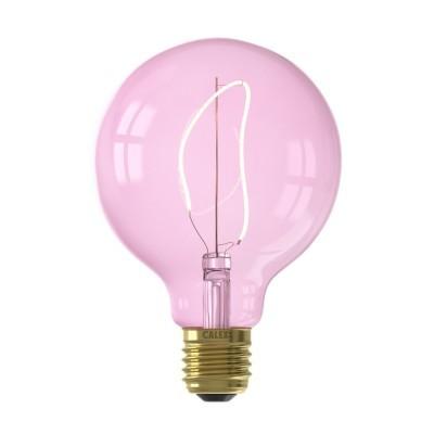Lâmpada LED Calex Nora G95 quartzo rosa dimável 220-240v 4w 150lm E27