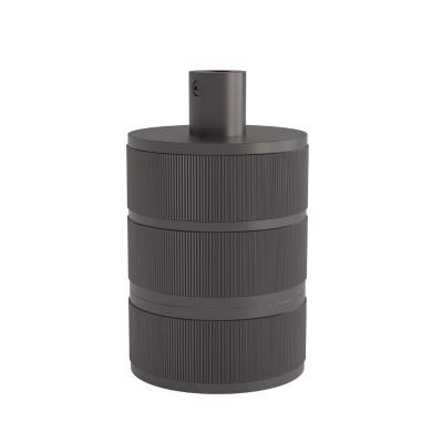 Suporte da lâmpada Calex E27 de alumínio com 3 anéis preto mate 250V 60W