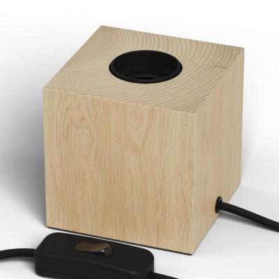 Candeeiro de mesa Calex cor pinho E-27 com extensão s/ lâmpada
