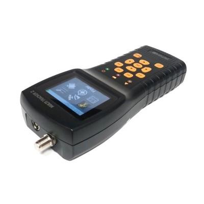 Medidor de campo Amiko Multitracker 2 Mini Combo (TDT, Sinal Satélite e Cabo) + Fonte de alimentação + Carregador isqueiro carro  + Bolsa