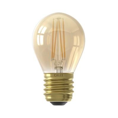 Lâmpada LED Calex regulável com filamento P45 dourada E27 3,5w 200lm 2100K