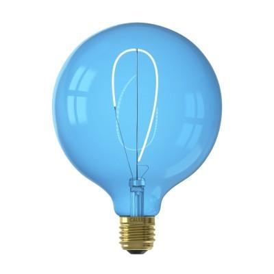 Lâmpada LED Calex Nora G125 azul regulável 4w 80lm 2700K
