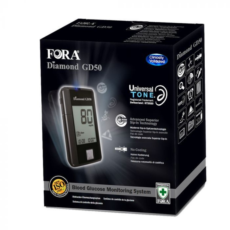 Glucómetro FORA® Diamond GD50