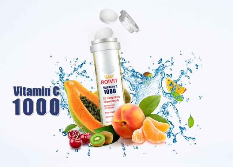 ROIVIT: Vitamin C 1000mg, 20 Effervescent Tablets
