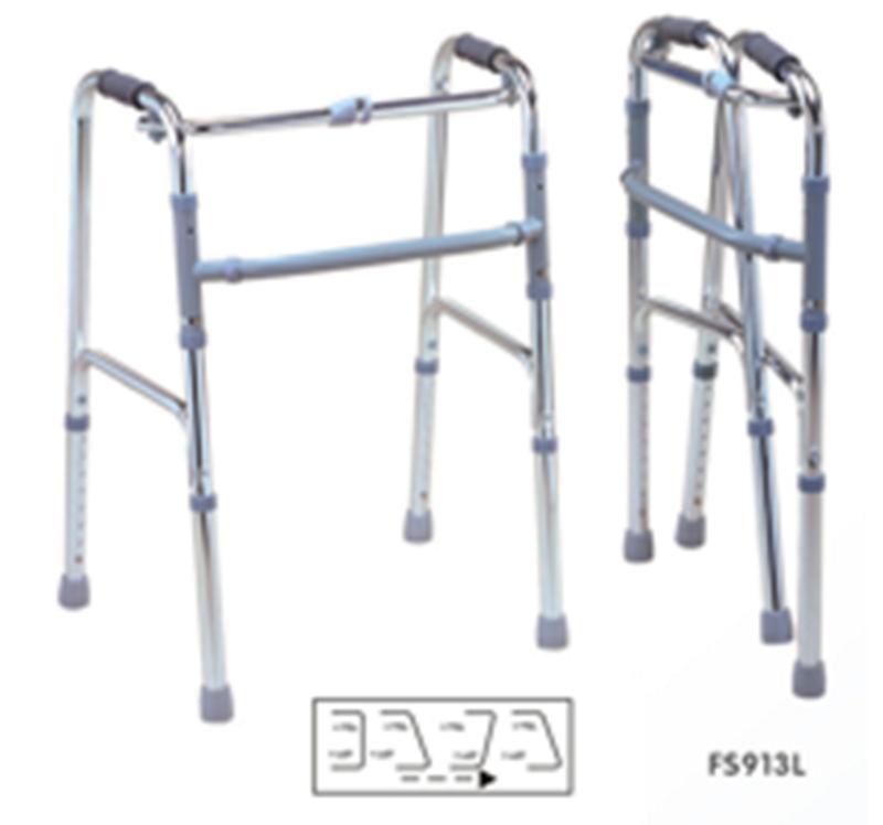 Andarilho sem Rodas Dobrável e Ajustável, FS913