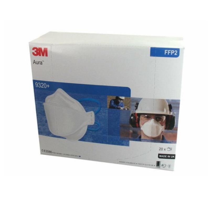 3M™ Aura™ Máscara de Partículas, FFP2, sem Válvula, 9320+