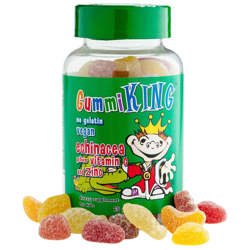 Gummi King:  Echinacea Plus Vitamin C and Zinc, For Kids, 60 Gummies