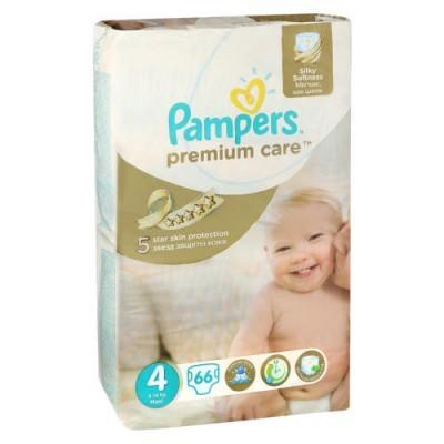 Pampers® Premium Care  Tamanho 4 (8 - 14 Kg), 66 Fraldas