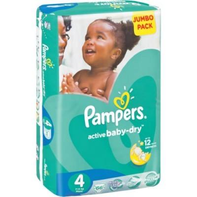 Pampers® Newbaby-Dry Tamanho 4 (7 - 14 Kg) - Jumbo Pack 66 Fraldas