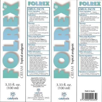 Catalysis Folrex Creme, 100 ml