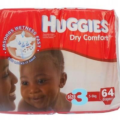 Huggies ® Dry Comfort - Tamanho 3 (5 - 9 Kg), 64 Fraldas