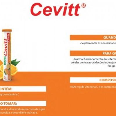 Hermes Cevitt Laranja, 20 comp. efervescentes