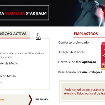STAR BALM® Emplastros Térmicos, 4uni