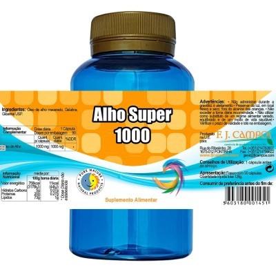 Alho Super 1000, Frs 90 Cáps