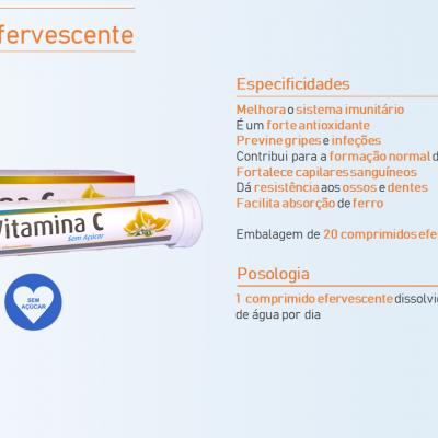 PhytoSaúde Vitamina C s/ Açúcar, 20 Comp. Efervesc.