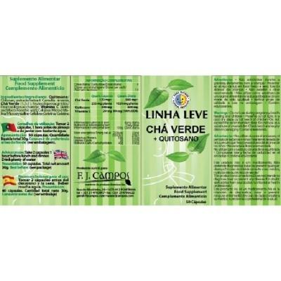 Linha Leve Chá Verde+Quitosano, Frs 50 Cáps.