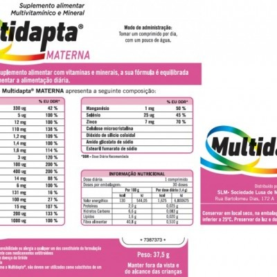 Multidapta®  Materna, Cx 30 Comp.