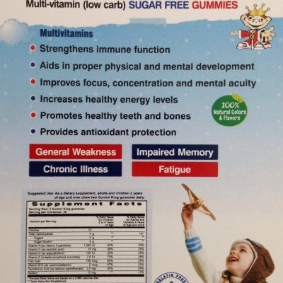 Gummi King: Sugar-Free Multi-Vitamin, For Kids, 60 Gummies