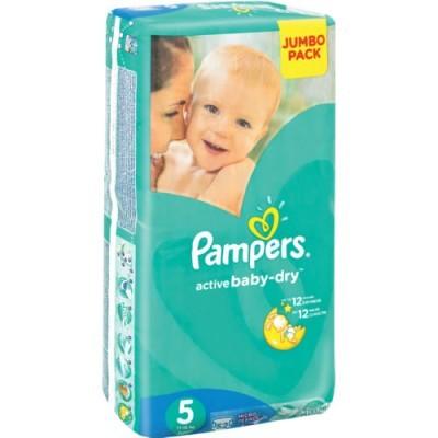 Pampers® Newbaby-Dry Tamanho 5 (11 - 18 Kg) - Jumbo Pack 52 Fraldas