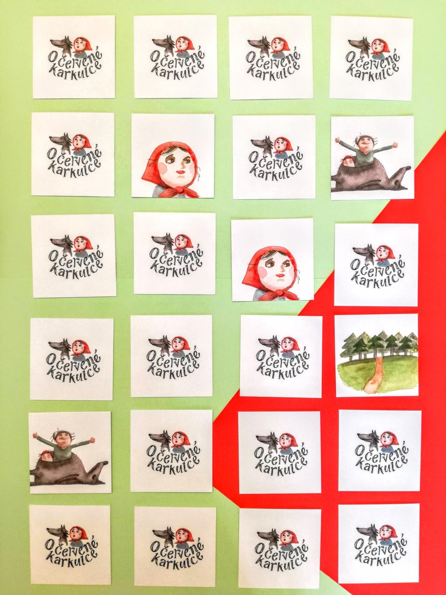 Capuchinho vermelho - Jogo de memória