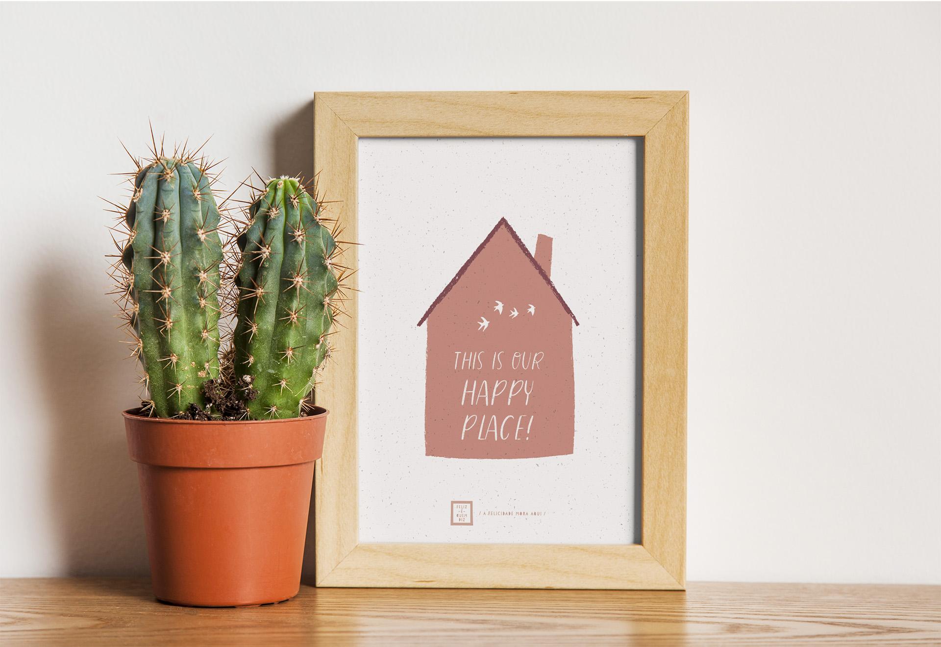 Art print . Happy place