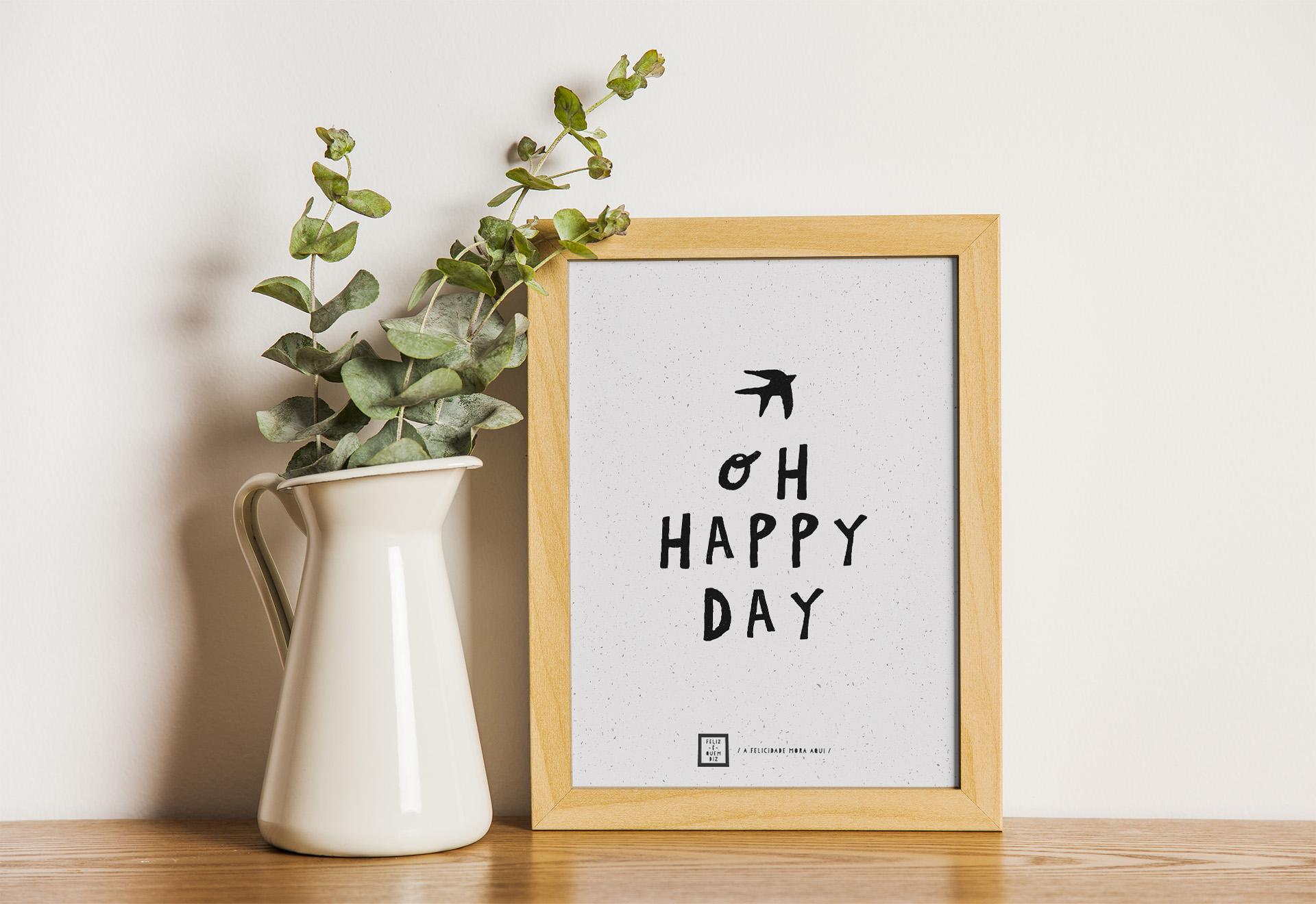 Art print . Oh happy day