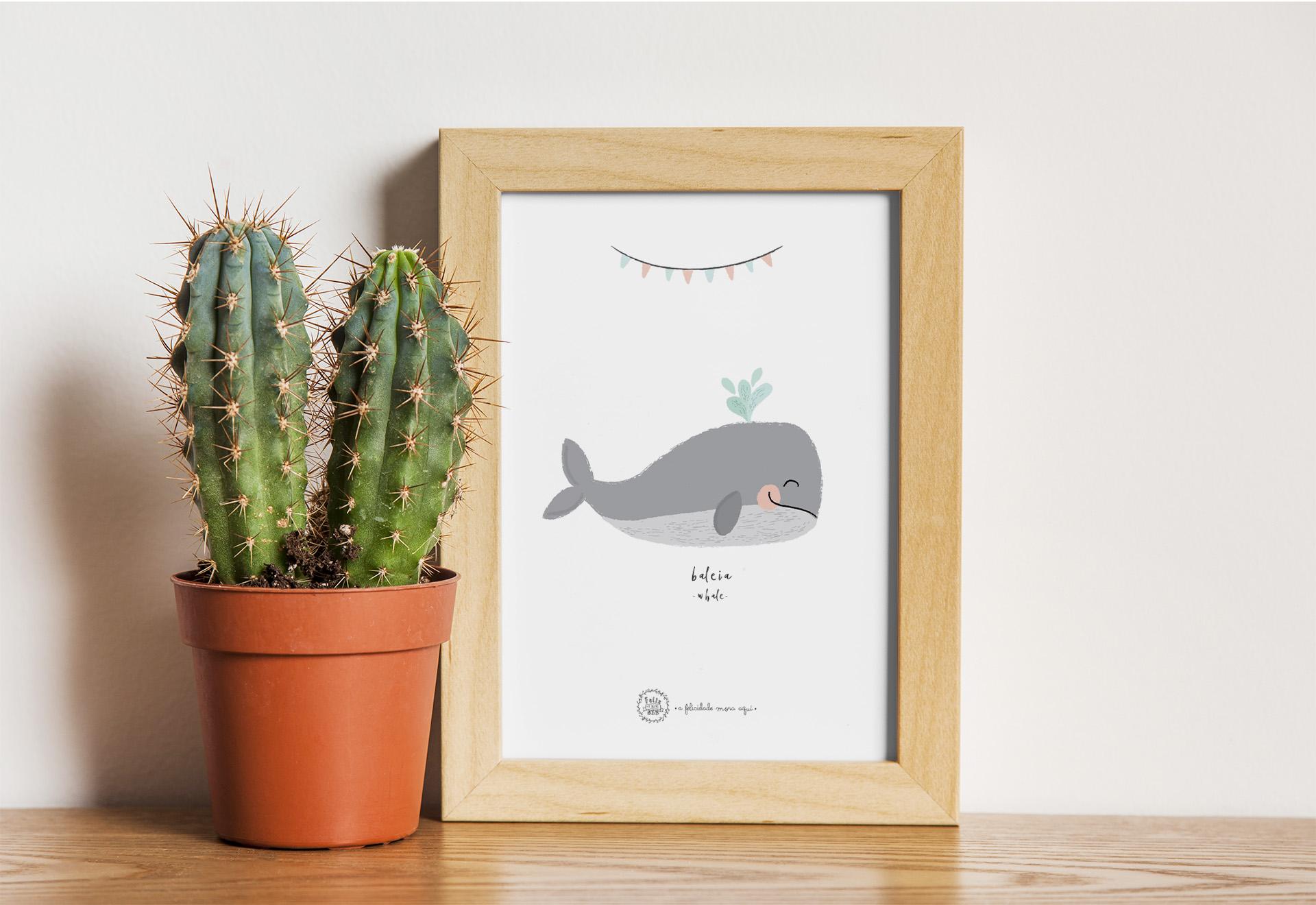 Art print . Baleia