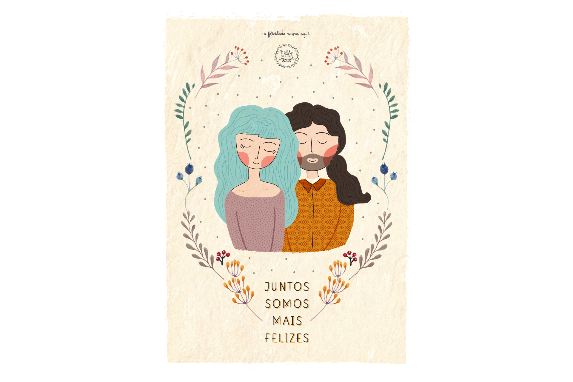 Ilustração personalizada de casal / família