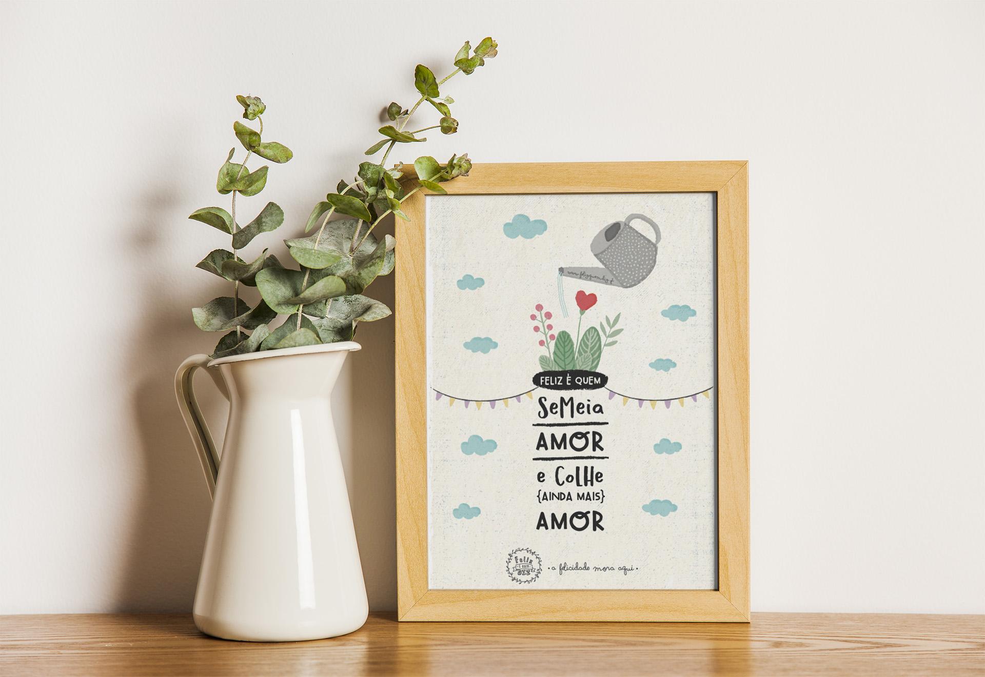 Art print . Semeia Amor