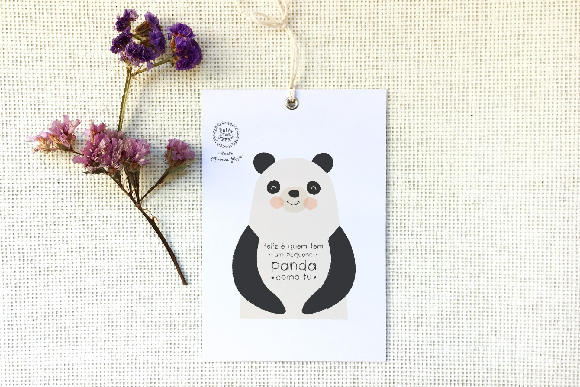 Placa pendurar . Panda
