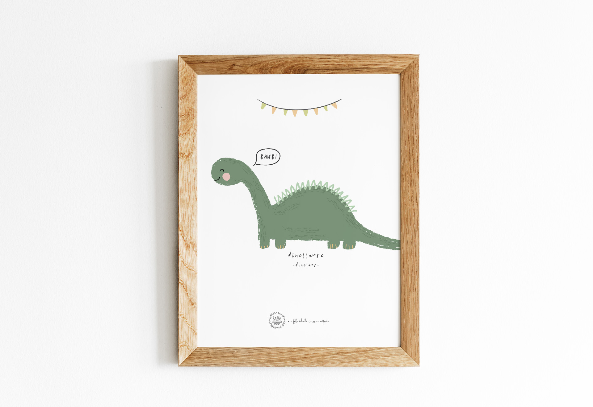 Art print . Dinossauro