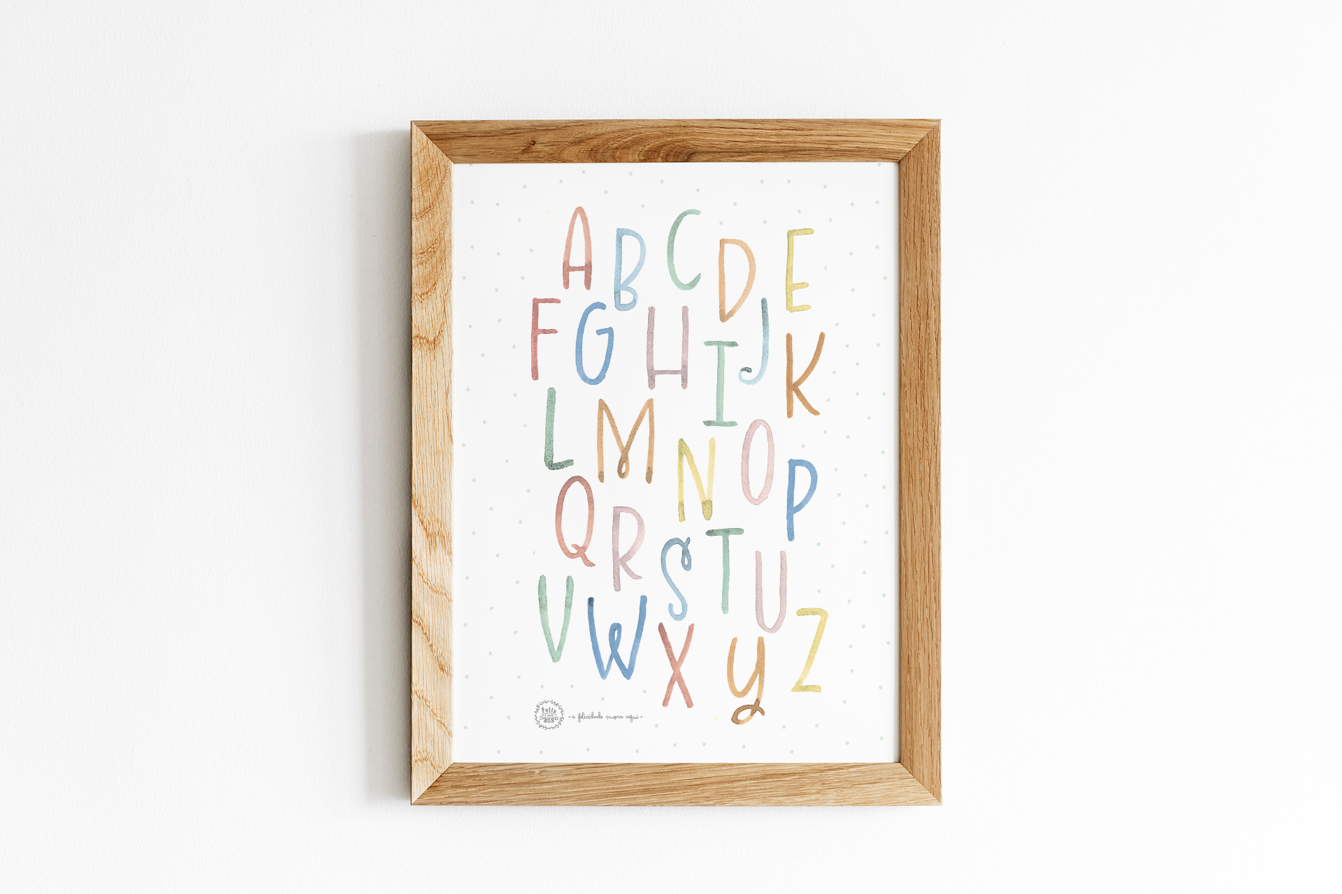 Art print . Letras