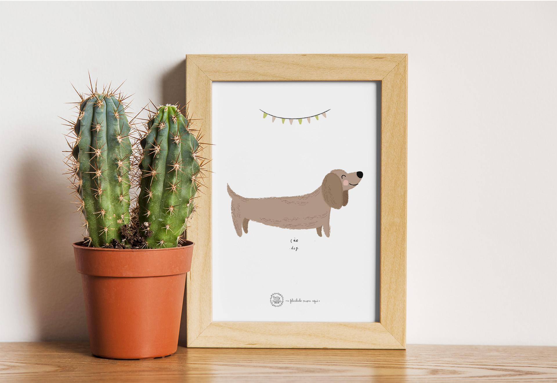 Art print . Cão