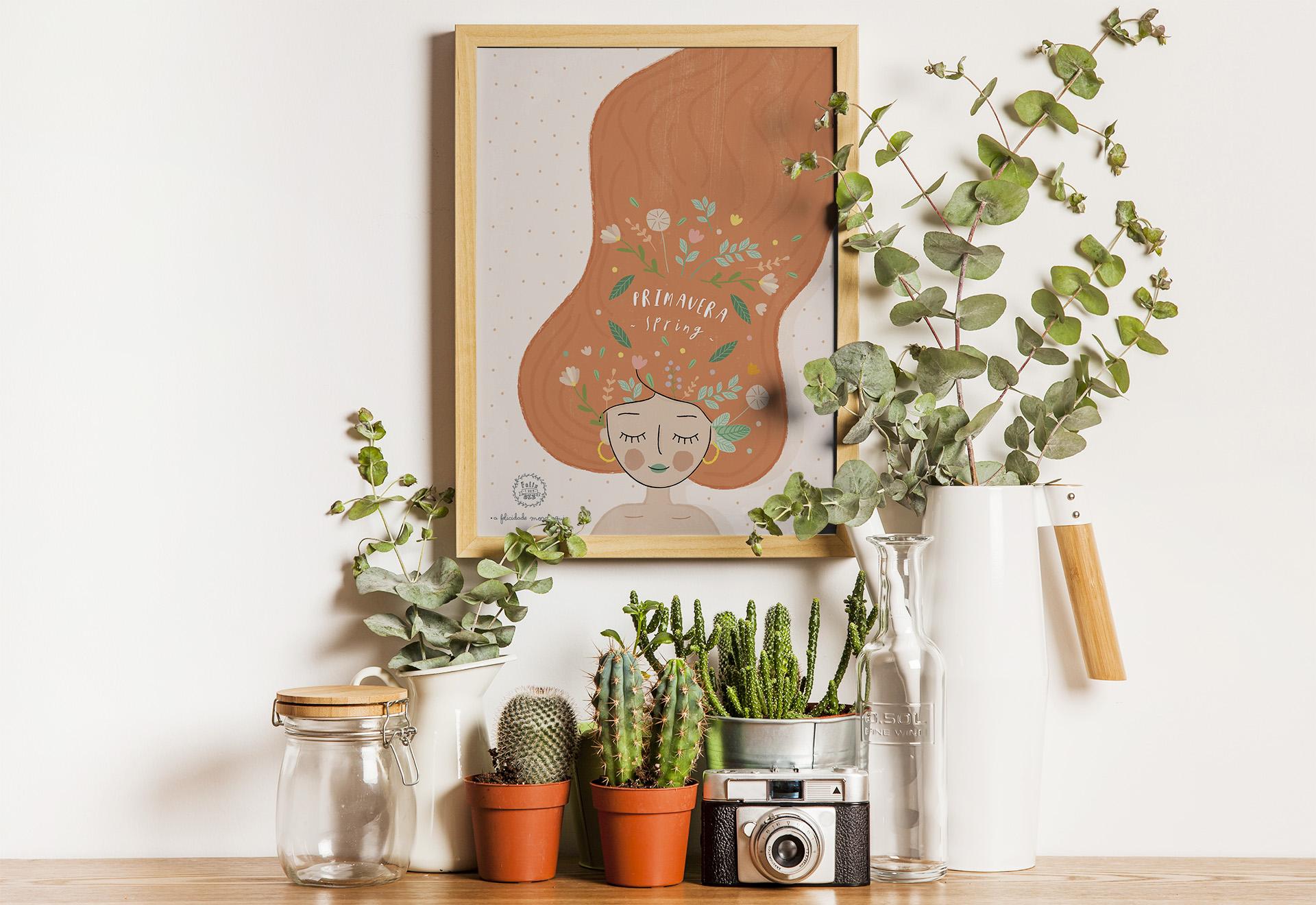 Art print . Estações do ano