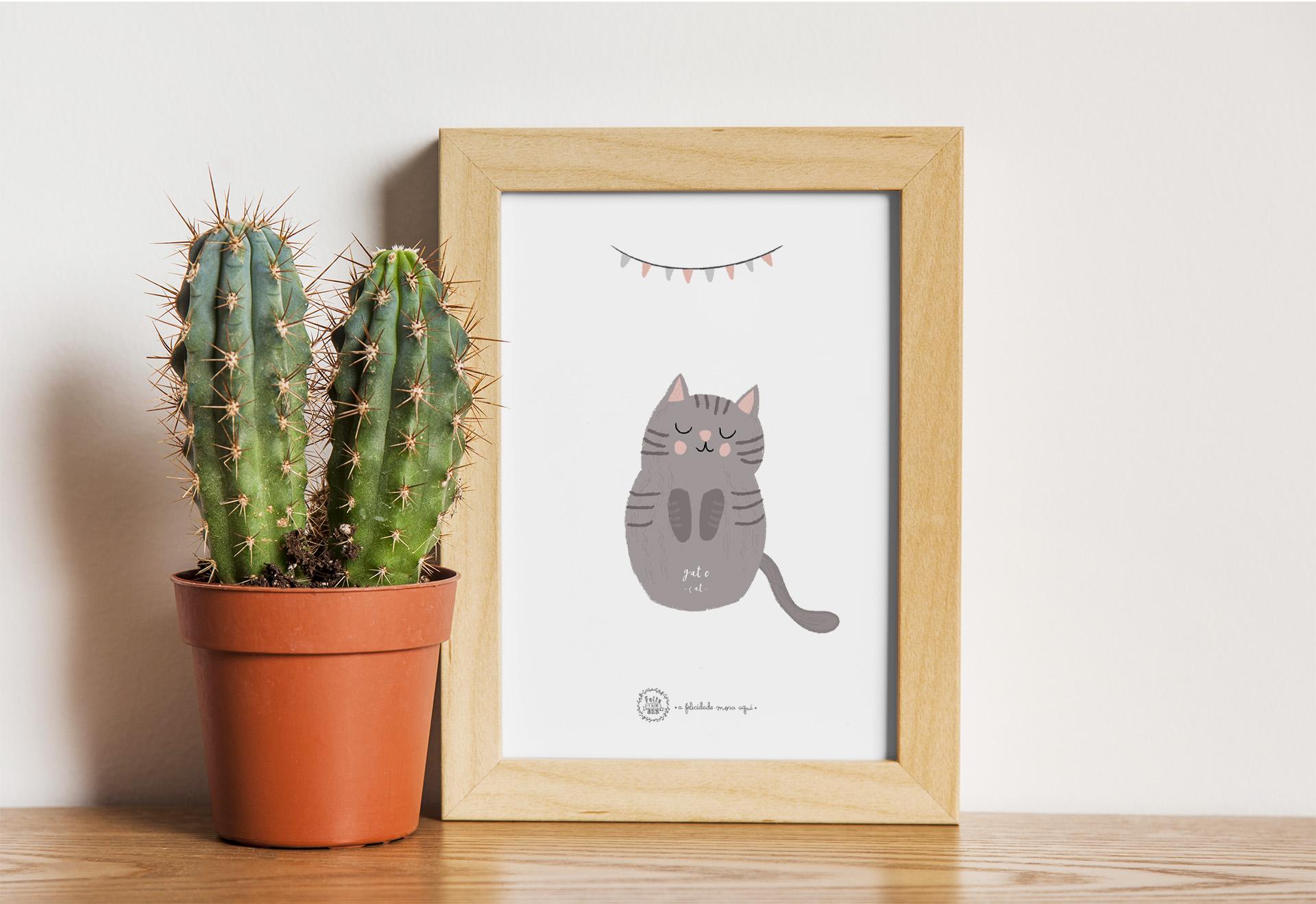 Art print . Gato